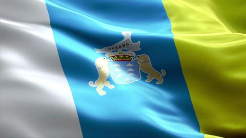 Flag Canary-Islands Animation