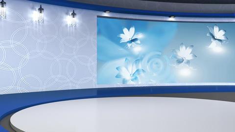 Talkshow TV Studio Set 03 - Virtual Background Loop Footage