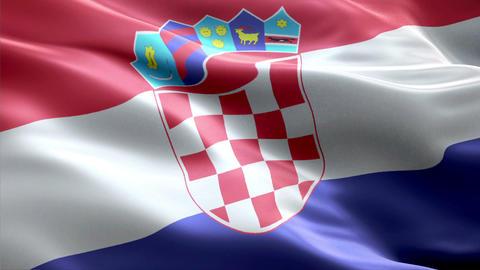 Flag Croatia Animation