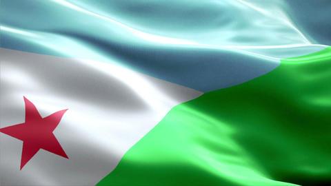 Flag Djibouti Animation