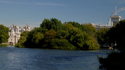 View across St James Park Lake in London on a sunny September afternoon. Footage Footage