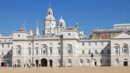 Static shot of the back of Whitehall and Horseguards Parade in Westminster, Lond Footage
