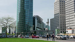 Time Lapse: Traffic At Potsdamer Platz In Berlin, Germany Footage