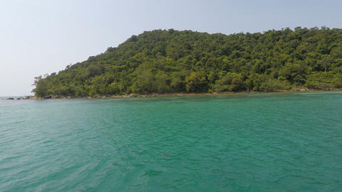tropical island koh rong in cambodia Footage