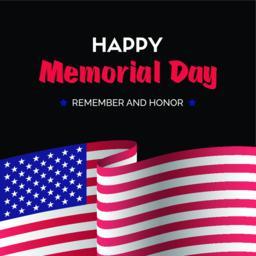 Happy memorial day. Vector dark greeting card Vector