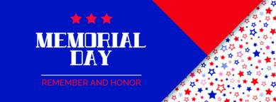 Memorial day. Remember and honor. Vector banner Vector