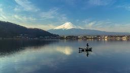 Mount Fuji Japan at morning Footage