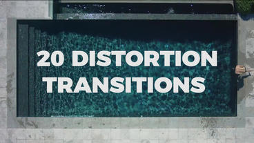 20 Distortion Transitions PR模板
