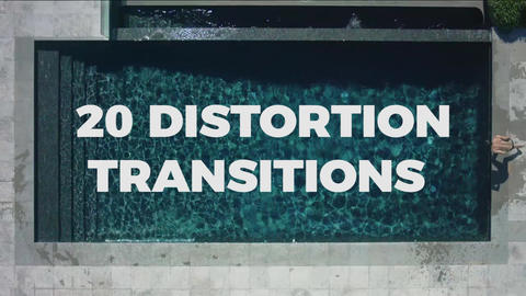 20 Distortion Transitions Premiere Pro Template