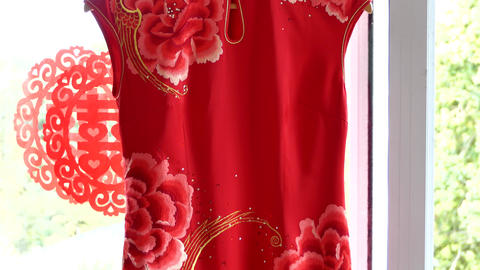 shot of elegant bridal dress and accessories 画像