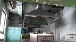 Canteen dining room in Pyramiden Spitsbergen Arctic Footage