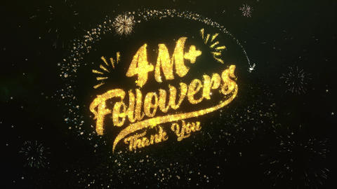 4M+ Followers Greeting and Wishes Made from Sparklers Particles Firework sky Animation