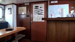 Interior of sailboat sailing ship Noorderlicht basecamp in Arctic Footage