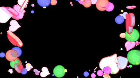Bubble and Heart Overlay Frame Animation