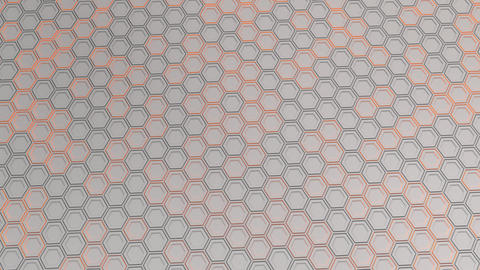 Wall of white hexagons with orange glow Animation