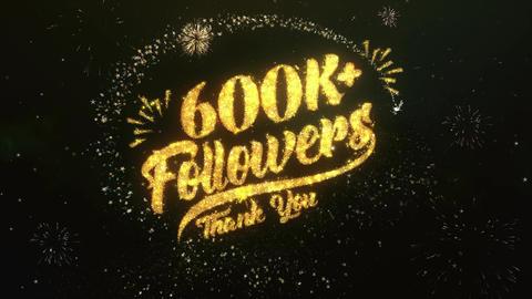 600K+ Followers Animation