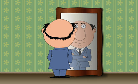 The man in the mirror Animation