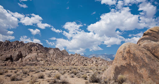 Rock formations of Alabama Hills in California Live Action