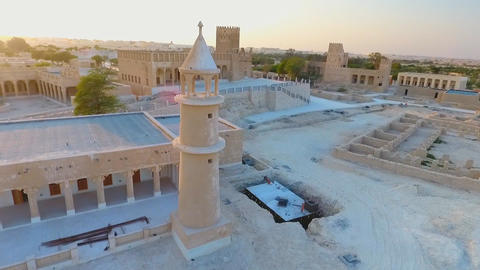 Mosque in Umm Salal Mohammed - Qatar, Middle East Footage