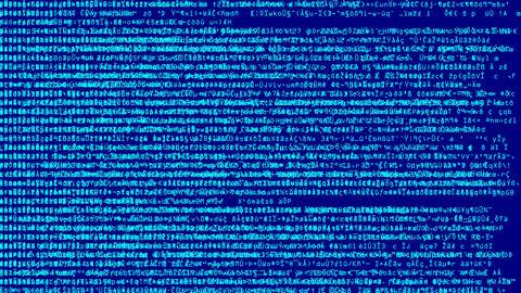 Blue Code Scramble Overload Animation