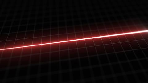 Stylized EKG Flatline, Red Animation