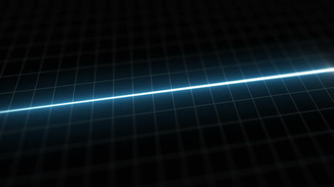 Stylized EKG Flatline, Blue Animation