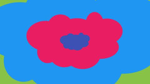 Cartoon backdrop from colorful clouds Animación