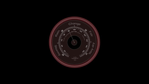 Circular Weather Gauge with Trembling Arrows Animation
