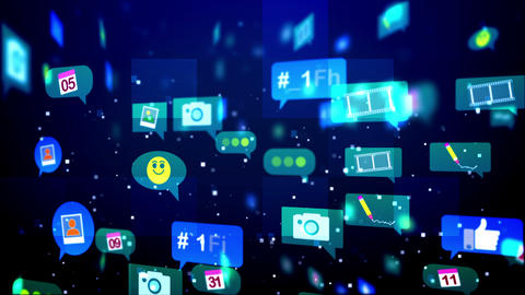 Abstract and Funny Social Media Bubbles Animation