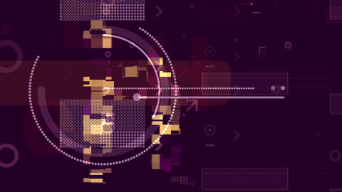 Abstract Techno Background with Pixel Areas. Loop Animation