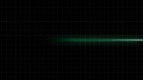 EKG Flatliner Screen, Green w/ Grid 애니메이션