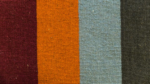 Colorful Carpet Fabric Texture Stock Video Footage
