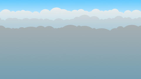 Gray Cloud Background Loop Animation