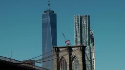 New York City 585 Manhattan downtown Beekman tower & World Trade Center Footage
