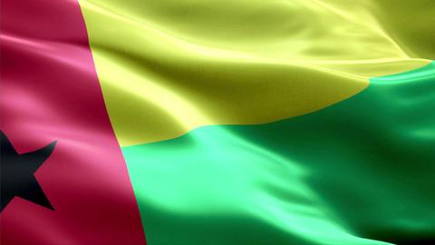 Flag Guinea-Bissau Animation