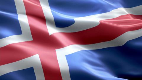 Flag Iceland Animation