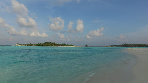 sea shore of maldives beach Footage
