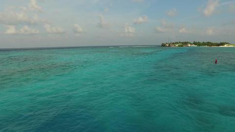 sea shore of maldives beach Footage