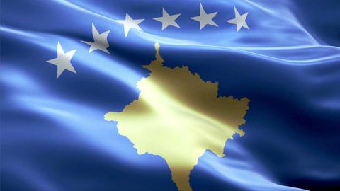 Flag Kosovo Animation
