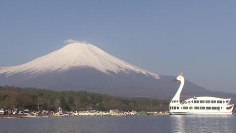 Mt. Fuji, Lake Yamanaka, Japan - 山中湖 富士山 - Tilt Up/Tilt Down stock footage