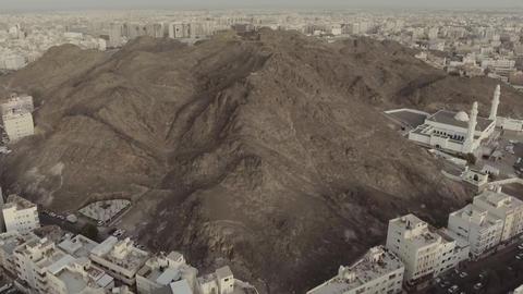 The Seven Mosques, Medina-Saudi Arabia. (aerial photography) Footage
