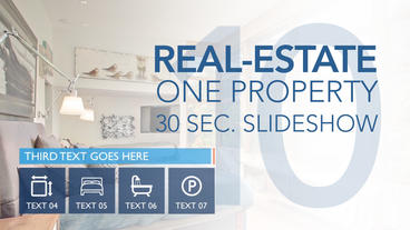 Real-Estate One Property 30s Slideshow 10 - Apple Motion and Final Cut Pro X Apple Motion Template
