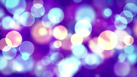 Big Smooth round Abstract blinking glowing Glittering dust Particles loop Animation
