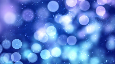 Blue white boke effects Abstract blinking glowing Glittering dust Particles loop Animation