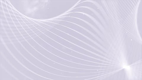 Lines white round Abstract Particle Streaks Lines and Stripes Fractal Background Animation