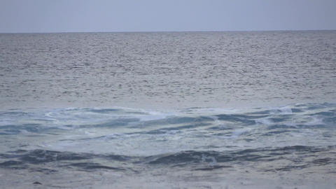 Tides and ebbs in the ocean. Maldives video blur Footage