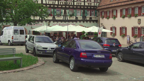 Tourists in Kloster Maulbronn, monastery Live Action