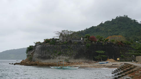 Fort Santa Isabelle, Fort Isabel in Taytay, Palawan, Philippines Footage