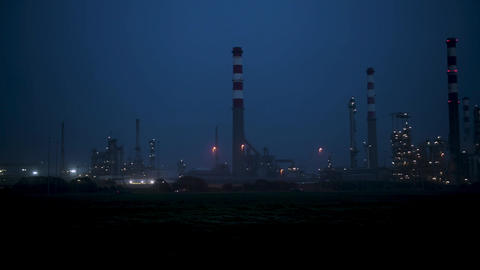 Oil refinery view Footage