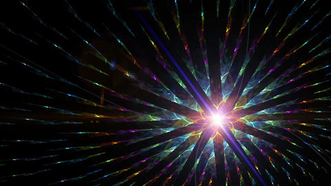 Colorful particles abstract bright vibrant motion background Animation